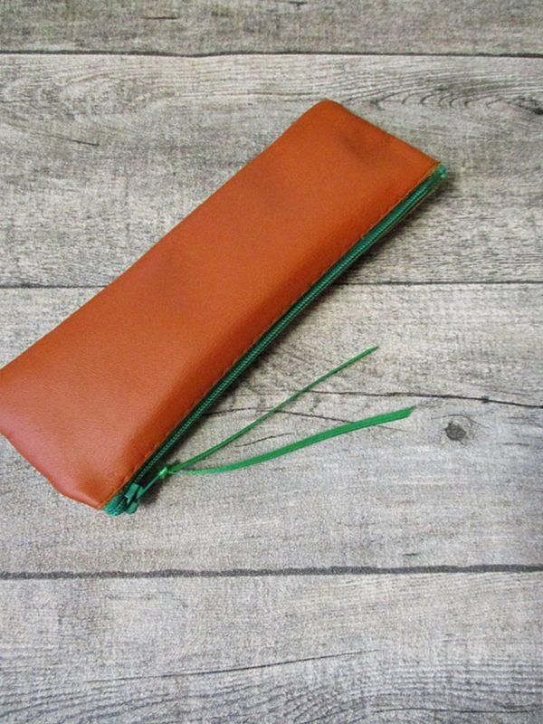 Federmäppchen Stiftemäppchen braun-grün Leder - Federmäppchen Stiftemäppchen braun-grün Leder - Ledertaschenmanufaktur