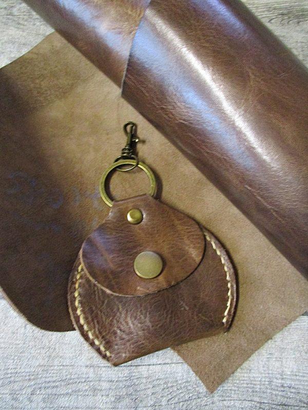 Portemonnaie Metall Rindsleder altmessing braun - Ledertaschenmanufaktur