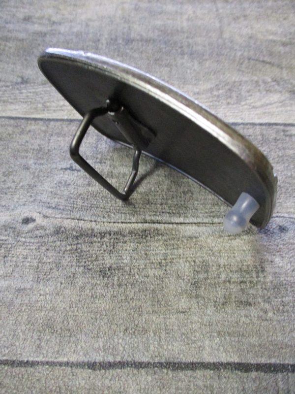 Gürtelschnalle Metallschließe Buckle silber schwarz rechteckig Totenschädel Skull - LTM