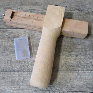 Riemenschneider Griffholz 180 lang Griff 46x37mm Messlatte 20 cm 5 Klingen 39,5x19 mm